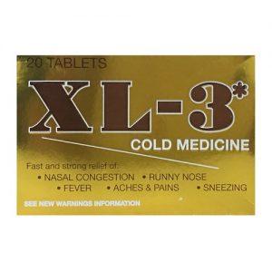 XL-3* Cold Medicine 20ct Tablets