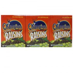 Champion Raisins 0.75oz 6pk