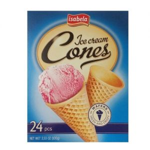 Isabela Ice Cream Cones 24pc 3.53oz