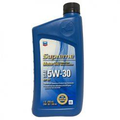 Chevron Supreme Motor Oil 5W-30 1qt