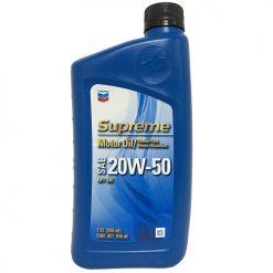 Chevron Supreme Motor Oil 20W-50 1qr