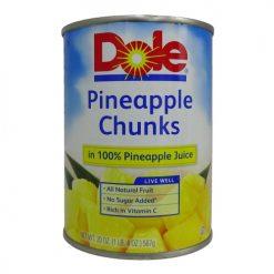 Dole Pineapple Chunks 20oz In Juice