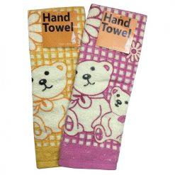 Hand Towels Bear Design Asst Clrs 13X28i
