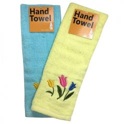 Hand Towels Tulip Asst Clrs 13X28in