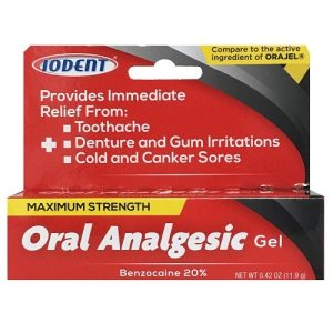 Iodent Oral Analgesic Gel 20% Benzocaine