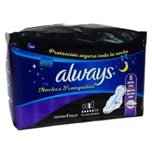 Always Maxi Pads 8ct Night Time Reg Long