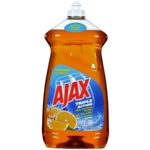 Ajax Dish Liq 52oz Triple Action Orange