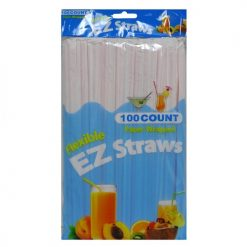 EZ Flexible Straws 100ct Paper Wrapped