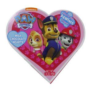 Valentine Paw Patrol Milk Choc Heart Box