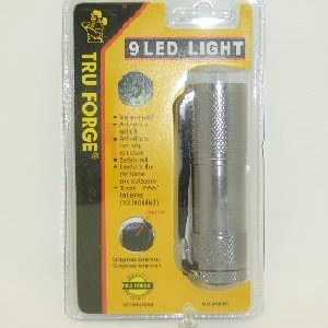 Flashlight 9 Led Asst Clrs