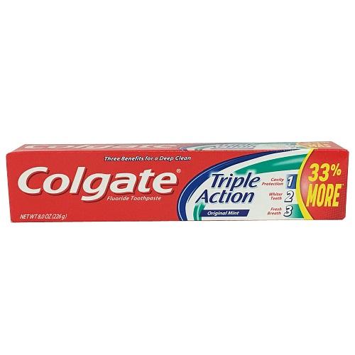 Colgate 8.0oz Triple Action Mint Origina