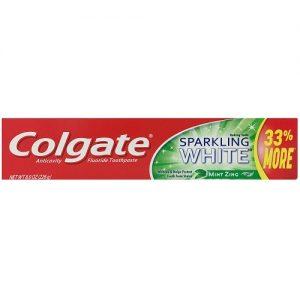 Colgate 8.0oz Sprklng White Mint Zing