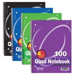Quad Notebook 100 Sheets Spiral