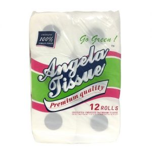 Angela Bath Tissue 12pk 430ct 2-Ply