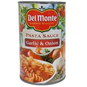 Del Monte Pasta Sauce Garlic AND Onion 24o