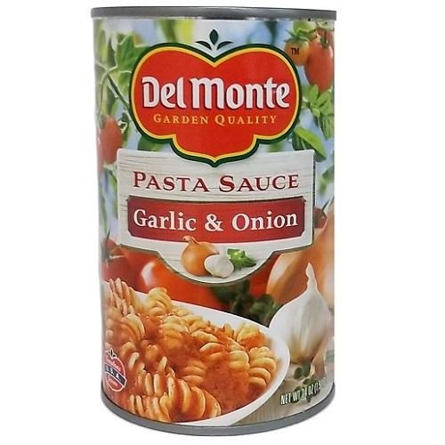 Del Monte Pasta Sauce Garlic AND Onion 24o