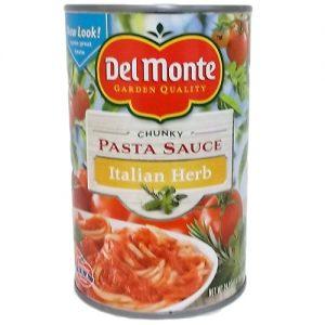 Del Monte Pasta Sauce Italian Herb 24oz