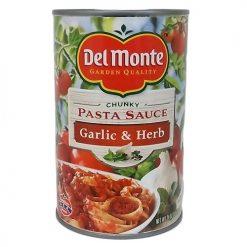 Del Monte Pasta Sauce Garlic AND Herb 24oz