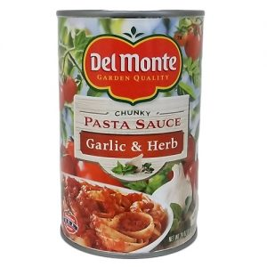 Del Monte Pasta Sauce Garlic AND Herb 24oz