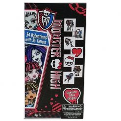 Valentine Cards 34ct Monster High W-Tato