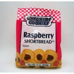 Checkers Shortbread Rspbry 8oz