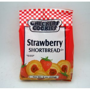 Checkers Shortbread Strwbry 8oz