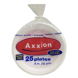 Axxion Cake Plate 25ct 6in White