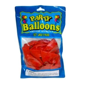 **Party Balloons 12in 15ct Solid Red