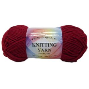 Knitting Yarn Burgundy 100% Acryl