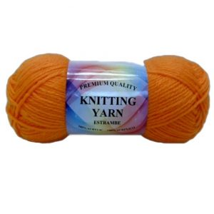 Knitting Yarn Orange 100% Acrylic