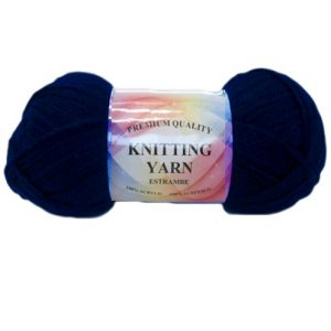Knitting Yarn Navy Blue 100% Acrylic