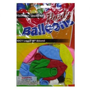 Party Balloons 10ct 12in Asst Clrs