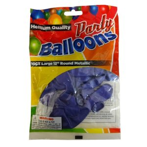 Party Balloons 10ct 12in Purple
