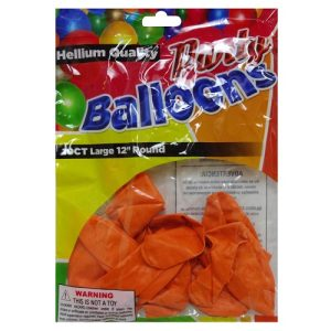 Party Balloons 10ct 12in Orange
