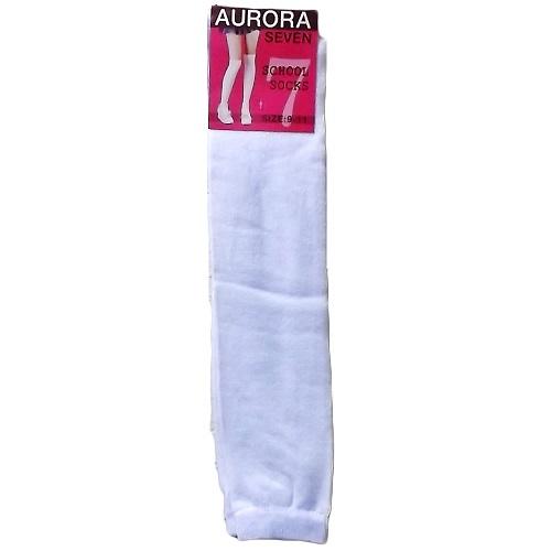 School Socks 9-11 White