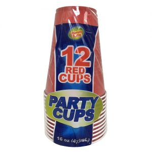 U.H Party Cups 12pc Red 16oz