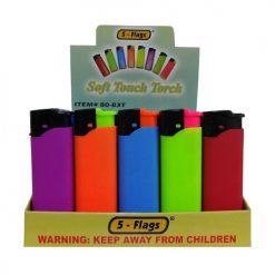 5-Flags Lighters Asst Neon Clrs