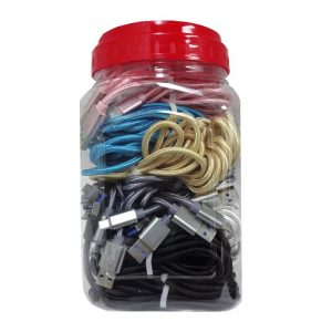 USB Phone Charger Asst Clrs In Jar