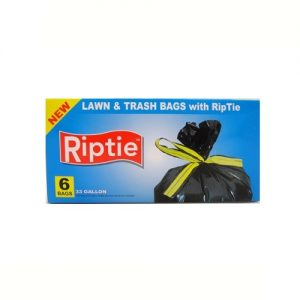 Riptie Trash Bags 6ct 33 Gallons
