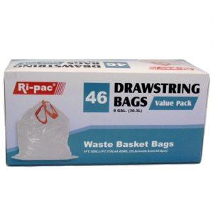 Ri-Pac Wastebasket Bags 46ct 8gl