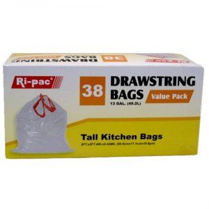 Ri-Pac Tall Kitchen Bags 38ct 13gl