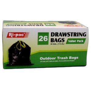 Ri-Pac Outdoor Trash Bags 26ct 30gl