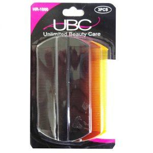 Plastic Fine Comb 3pc