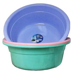 Wash Basin Asst Pastel Clrs Plastic