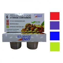 Food Containers 6pc Sml Rnd Asst Reusabl