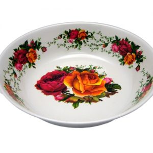 Melamine Shallow Plate 8in Roses Design