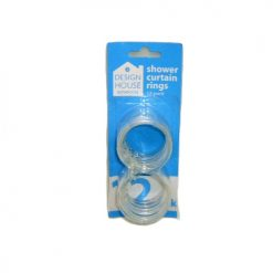 Shower Curtain Rings 12pc Clear