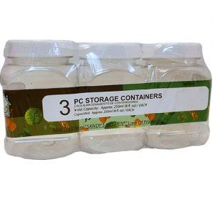 Storage Jar 3pc Plastic