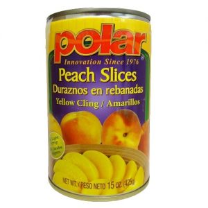 Polar Peach Slices 15oz Lght Syrup