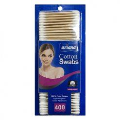 Ariana Cotton Swabs 400ct Wood Stick